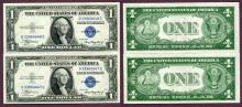 1935-A $1 FR-1608 US small size silver certificate blue seal