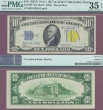 1934-A $10 FR-2309 North Africa US WW-2 emergency issue silver certificate