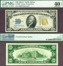 1934-A $10 FR-2309 North Africa US emergency issue North Africa PMG 40