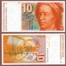 1981 10 Franken Switzerland collectable paper money