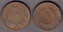 1867 2c US collectable two cent piece
