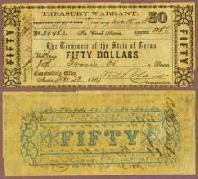 Texas $50.00 CR-32A civil war warrant