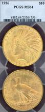 1926 $10.00 US $10 Indian gold eagle PCGS MS 64
