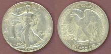 1947-D 50c US Walking Liberty silver half dollar