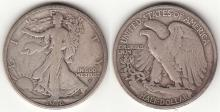 1916-D 50c US silver walking liberty half dollar