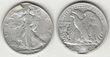 1938-D 50c US walking liberty half silver dollar