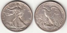 1920 50c US walking liberty silver half dollar