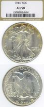 1944 50c US walking liberty silver half dollar