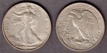 1937 50c US walking Liberty silver half dollar