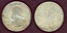 1935-S 25c US Washington silver quarter