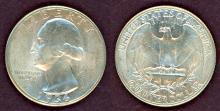 1936 25c US washington silver quarter