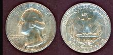 1941-D 25c US Washington silver quarter