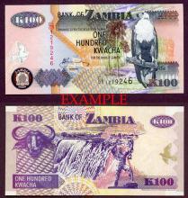 2006 100 Kwacha collectable paper money Zambia